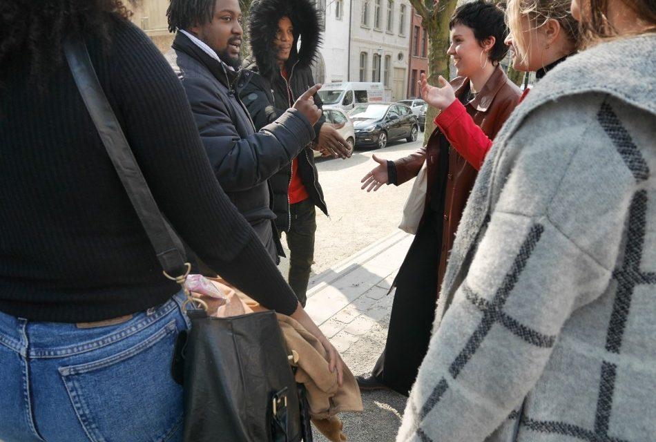 Studenten agogiek gaan in gesprek met Brusselaars