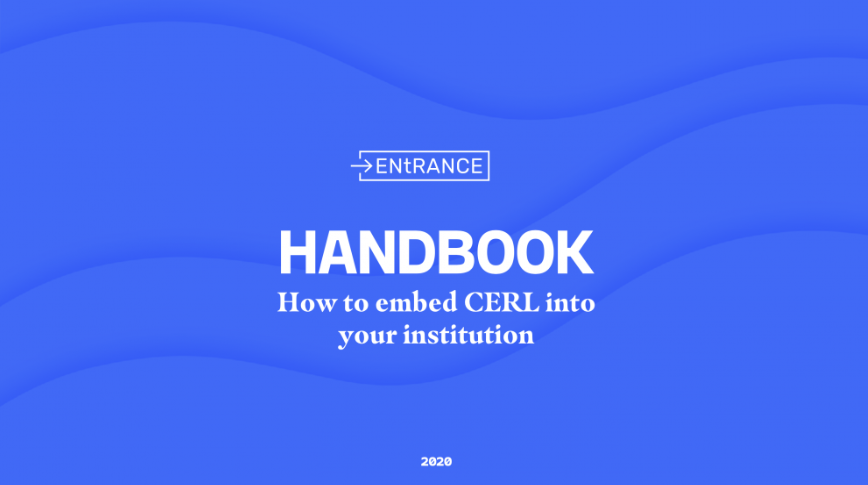 The VUB CERL team proudly presents: the ENtRANCE HANDBOOK