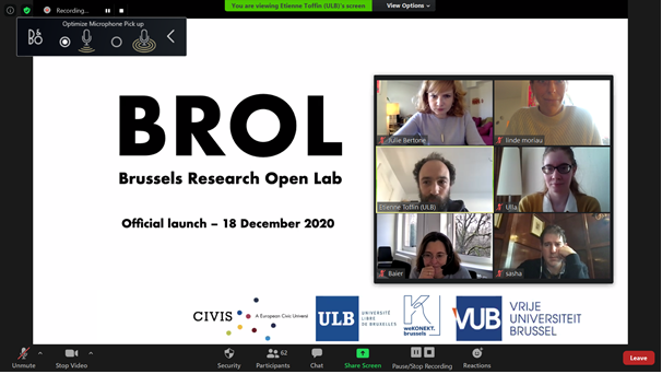 Brussels Research Open Lab (BROL) KickOff Meeting